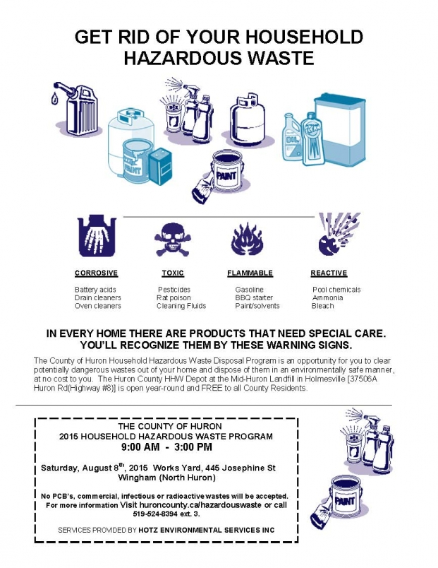 Hazardous Waste event poster