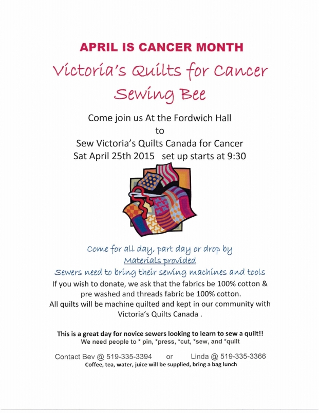 Victoria's Quilts Cancer