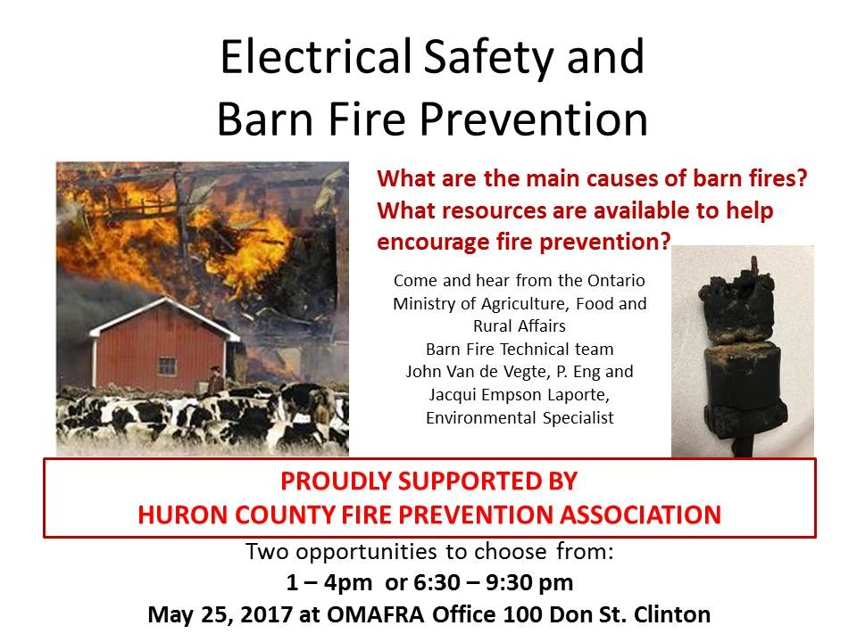 OMAFRA Electrical Fire Farm Safety flyer