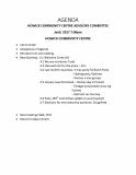 HCCAC agenda